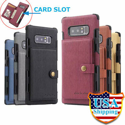 For Samsung Galaxy Note 9 8 Shockproof Leather Case S9/S8+ Plus Wallet Cover