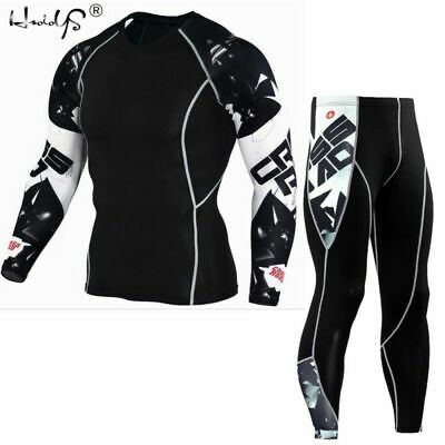 Men 's Winter Warm Thermal Underwear Sets Fleece Quick Drying Thermo Long Johns