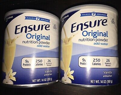 2 Pack Ensure Original Nutrition Powder Supplement Vanilla 14oz & FREE SHIPPING