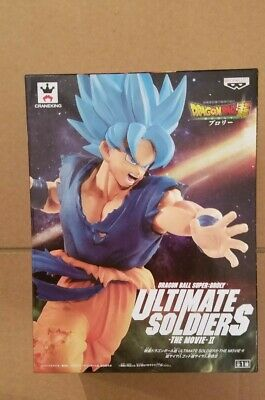 Dragon ball super figurine Son goku blue ultimate soldiers Broly the movie neuve