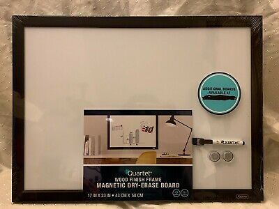 "Quartet Black Wood Finish Frame Magnetic Dry Erase Board, Whiteboard 17"" x 23"""