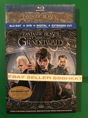 Fantastic Beasts The Crimes Of Grindelwald Blu-Ray+DVD+HD Slipcover EXTENDED CUT