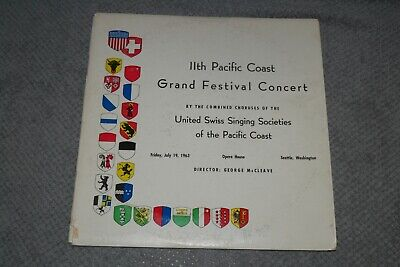 11th Pacific Coast Grand Festival Concert~United Swiss Singing Society~SIGNED