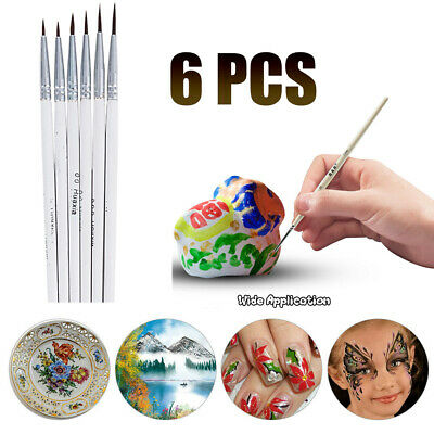 Detail Paint Brush Set Miniature Art Brushes for Fine Detailing 6 Different Tips
