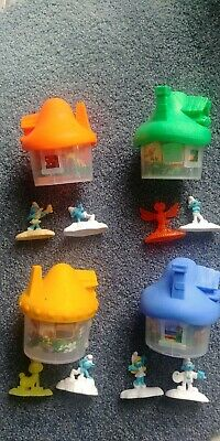 Smurf House Collectables x 4 with Figurines