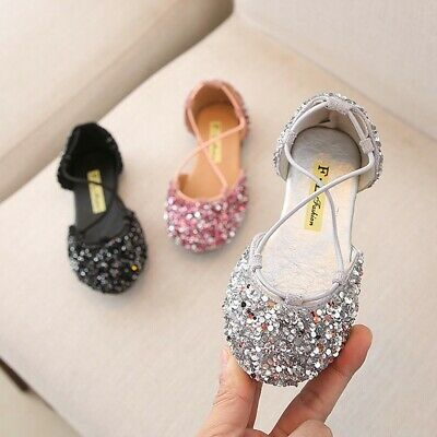 f3540695ffb1 Summer Toddler Infant Kids Baby Girls Cute Bling Sequin Princess Sandals  Shoes