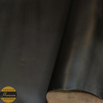 Horween Chromexcel Leather Veg Re Tan Black Panels 2.0-2.2 mm Thick Firm Feel.