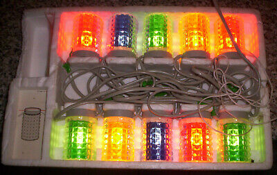 Alte Original Osram Partylux Lichterkette Vintage 70er 10x3 Watt Made in Germany