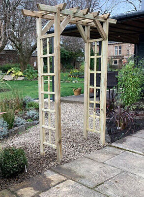 Wooden Garden Arch Trellis Roses Plants Arbour Climbing Support Pergola Archway