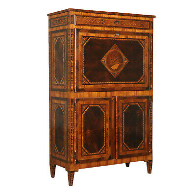 Neoclassical Secretaire with Inlays Milan Italy Last Quarter of 1700s
