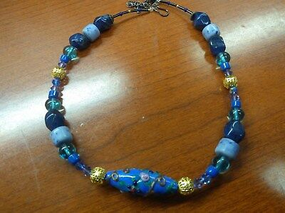 Native American Lapis Lazuli, Sodalite and Glass Necklace MAKE AN OFFER!!!!!!