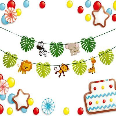 3M Jungle Animal Theme Buntings Hanging Paper Banner Kids Birthday Party Decor