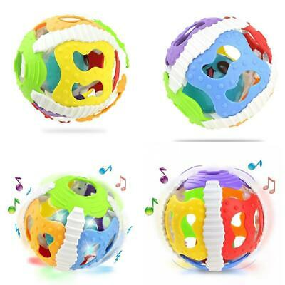 Baby Musical luminescent Hollow Out Color Ball Hand Rattle s2zl 01