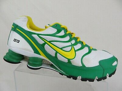 new product a5087 4585a NIKE SHOX TURBO + White/Green/Yellow Sz 12 Men Running Shoes