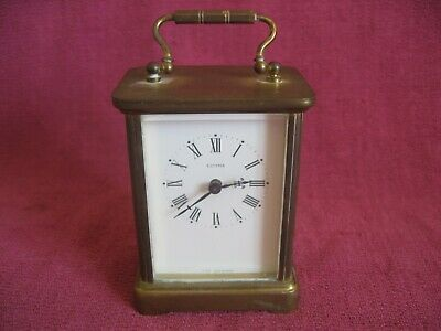 Vintage Estyma Brass Cased Electric Carriage Mantle Clock - Spares or Repair