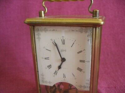 Vintage Schatz No. 59 Glass Cased 8 Day Carriage Mantle Clock - Spares or Repair