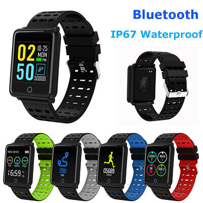 CA Waterproof Smart Watch Heart Rate Monitor Bracelet Wristband for iOS Android