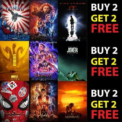 BEST NEW MOVIES OF 2019 POSTERS A3 A4 300GSM Paper/Card Show Print Wall Art Deco