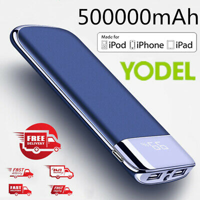 Large-capacity Portable 500000mAh Power Bank External Backup Battery Charger UK