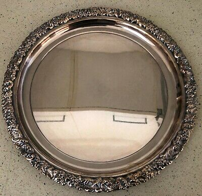 Serving Tray - Antique - Possibly Silver