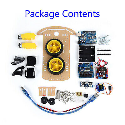Car Smart Robot Car Chassis For 2WD Ultrasonic Arduino MCU Motor DIY Useful Hot