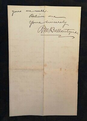 [mid- to late 19th century] Letter by R.M. Ballantyne, novelist