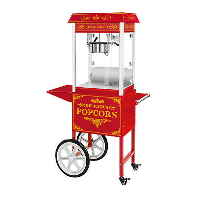 Electric Retro Popcorn Machine Commercial Cinema Party Popcorn Maker with Cart