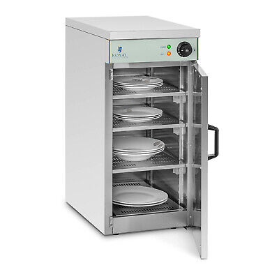 Hot Cupboard Commercial Plate Warmer Stainless Steel Heated Trolley - 60 Plates