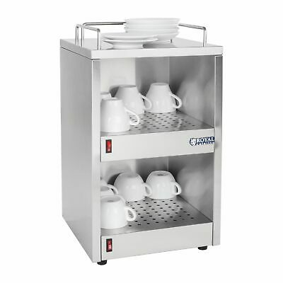Commercial Catering Buffet Cup Warmer Cupboard 72 Cup Heater Cabinet 3 Shelves