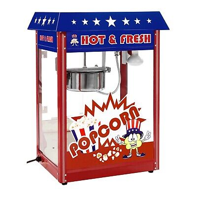 Retro Popcorn Maker Commecial Pop Corn Machine Professional Cinema Party Popcorn