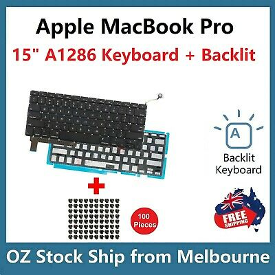 "Keyboard for Apple MacBook Pro 15"" Unibody A1286 2009 2010 2011 2012 Backlit US"