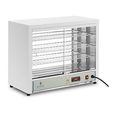Commercial Hot Food Pie Pastry Display Cabinet Adjustable Shelves LED Display