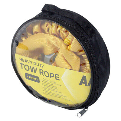AA 4 Tonne 4 Metre Heavy Duty Strong Tow Rope Car Van Strap Elasticated Strong