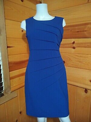 ceb7f76f Calvin Klein Women's Sheath Dress Size 6P Blue Sleeveless Career Office C