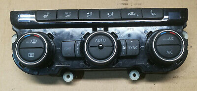 Vw Scirocco 2015 - 2017 Air Con Heater Control Panel Heated Seats 1K8907044Ac