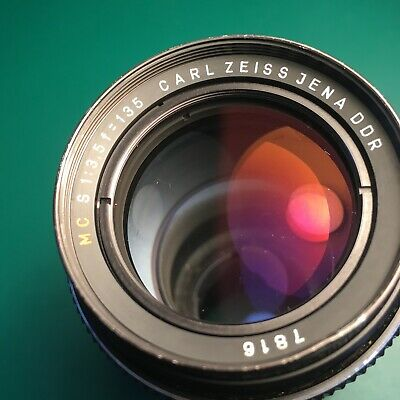 CARL ZEISS JENA DDR 135mm f/3.5 M42 SCREW MOUNT – Good Condition – Coated Optics