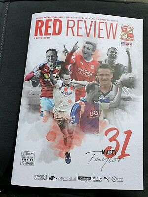 SWINDON TOWN v NOTTS COUNTY (LAST AWAY GAME IN THE LEAGUE) 4th MAY 2019~F/POST