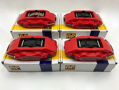 New Ap Racing 4 Pot Red Brake Calipers + Pads Genuine Lotus Evora S S3 Exige V6