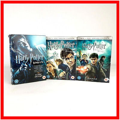 Harry Potter 1-8 Complete 8 Film Full Collection DVD Box Set Movie Special H5