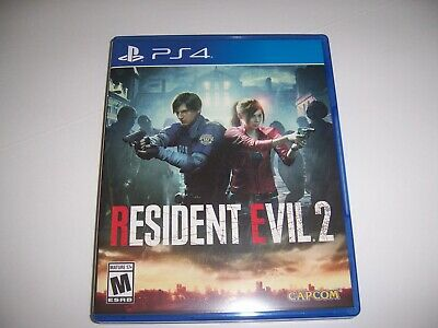 Original Box Case Replacement Sony PlayStation 4 PS4 Resident Evil 2 Two