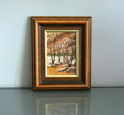 Scandinavian Impressionism Autumn Framed & Signed Original Oil Painting Fall