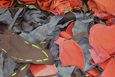 10Kg Bag Mixed Upholstery Leather Arts & Crafts,Off Cuts,Scrap,Remnants,Pieces