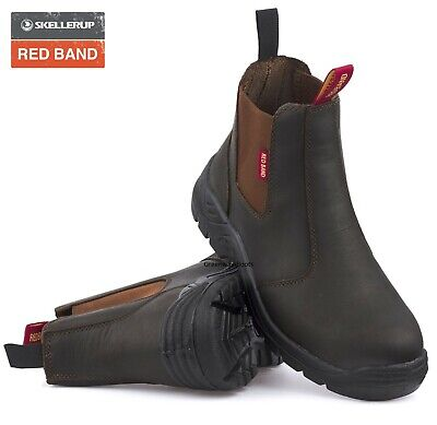 0e6fa0eb294 SKELLERUP RED BAND size 12 black red wellies wellington rubber boot ...