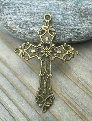 Aamar Djinn Ancient Gothic Bronze Cross Pendant Metaphysical VERY RARE Spirit