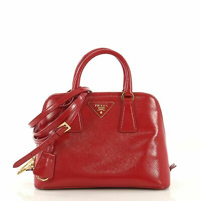 5f1c5b8f0 PRADA SMALL SAFFIANO Vernice Patent Leather Promenade Crossbody ...