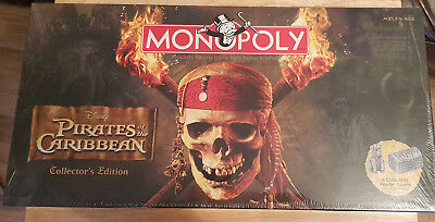 New Sealed Monopoly Pirates Of The Caribbean Collectors Edition Usa - Ultra Rare