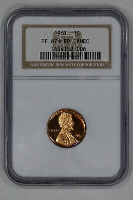 1961 Lincoln Memorial Cent Penny 1C Ngc Cert Pf 67* Rd Star Proof Red Cameo (006