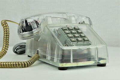 Professionally Restored Vintage Touch Tone Telephone Clear 2500 - 21019