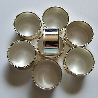 8 Sliver plated Napkin Ring Holders