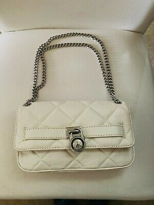 4f6ad2eb6fbe Michael Kors Quilted Chain Shoulder Bag - Soft White , Silver-Tone Hardware